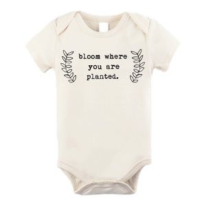 Bloom Where You Are Planted Organic Onesie